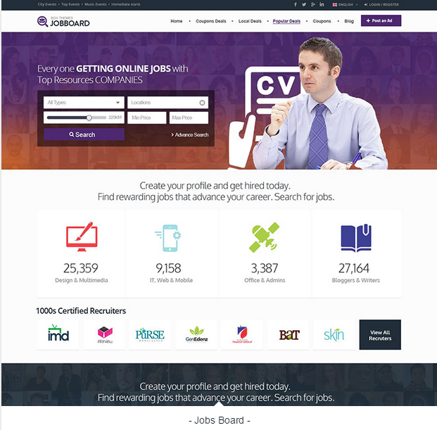 Top10 Best Job Board WordPress Themes – Idea For Web
