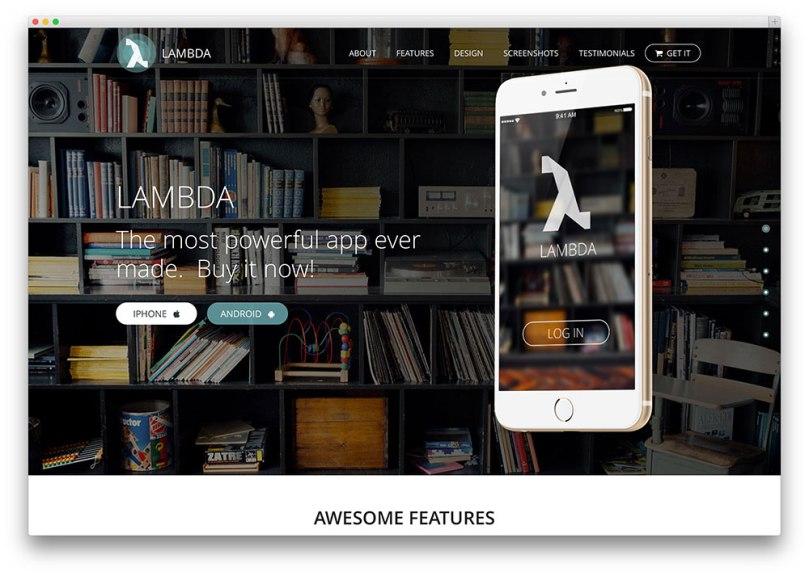 lambda-app-landing-page-theme