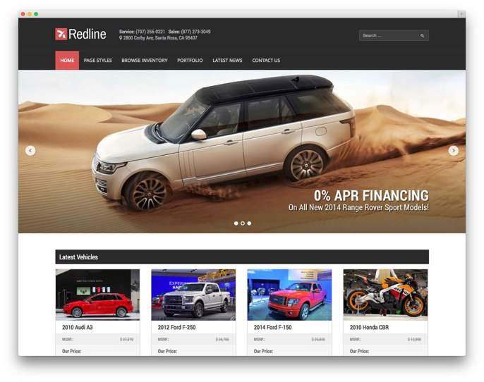 redline-car-theme