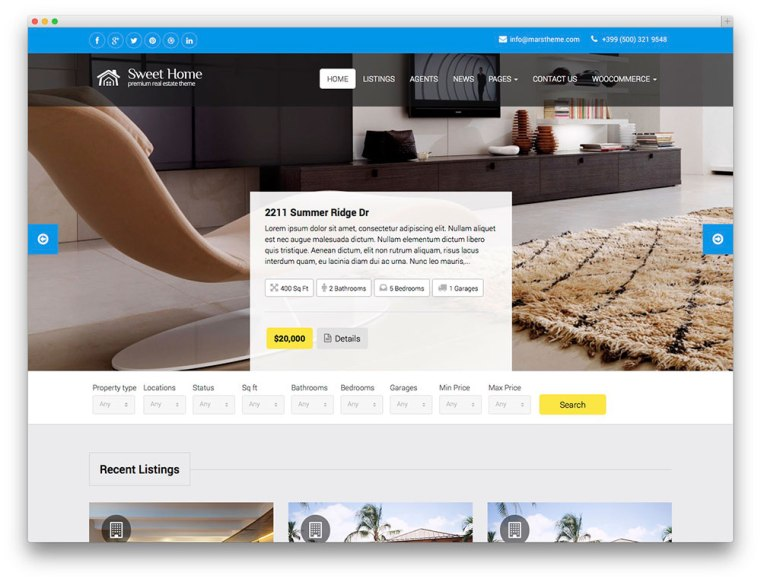 sweethome-wp-template